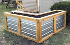 steel garden beds corrugated steel garden beds the best building self watering raised u frugal living