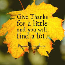 Giving Thanks Quotes