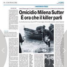 Giovanni Terzi - Oggi su @iltempoquotidiano il mio articolo sull'omicidio  della giovane Milena Sutter. Un caso totalmente chiuso, un efferato delitto  commesso quasi cinquant'anni fa ed un uomo, Lorenzo Bozano , che