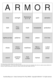 buzzword bingo generator armour of god bingo card lesson ideas pinterest buzzword