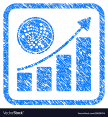 Iota Coin Growth Chart Framed Stamp Vector Image On Vectorstock