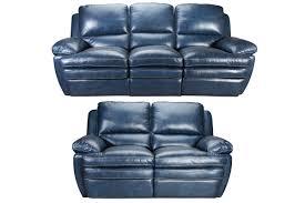 mazarine power reclining leather sofa loveseat from gardner white furniture