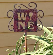 Wine Themed Decor Wine Themed Yard Art Outdoor Metal Decor For Home Wine Yard