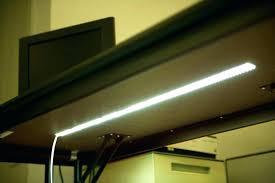 under desk led lighting. Desk Light Strip Under Lighting Led Lights Flexible Installed A For Accent Lamp . G