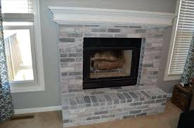 whitewashed brick fireplace whitewash diy