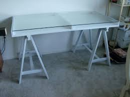 white wicker desk glass top brubaker ideas wooden office white top medium
