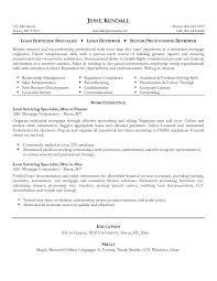 free loan servicing specialist resume example loan servicer resume