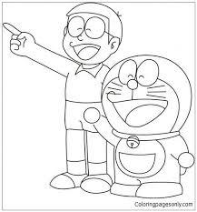 Coloring book for doraemon & nobita is an educational coloring book and one of the best coloring game for nobita characters. Doraemon And Nobita Coloring Page Cartoon Coloring Pages Cute Cartoon Drawings Art Drawings Sketches Simple