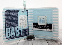 Baby Photo Album Books Baby Boy Mini Album Pebbles Inc