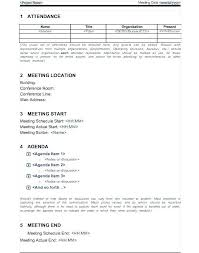 Corporate Meeting Minutes Examples Corporate Minutes Template Pdf