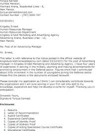 Advertising Cover Letter Sales Manager Stupendous 4 Representative