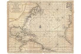 Vintage Nautical Charts Details About North Atlantic Antique Map Nautical Chart By Mortier 1683
