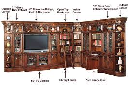library unit furniture. parker house entertainment wall unit barcelona phbar3 library furniture