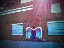 la la tours glabal angel wings mural on angel wings wall art los angeles address with glabal angel wings mural picture of la la tours los angeles