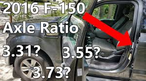 2006 F150 Towing Capacity Chart How To Find Axle Ratio 2016 Ford F 150