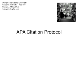 Ppt Apa Citation Protocol Powerpoint Presentation Id157578