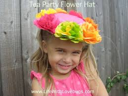 Paper Flower Hats Tea Party Flower Hats Made From Tissue Paper Flowers A