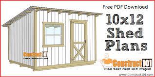 10x12 lean to shed plans free pdf plans