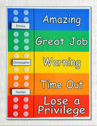 Behavior Chart Shipped Use For Multiple Kids Customized With 1 To 6 Movable Names