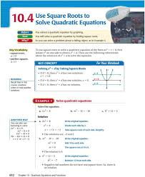 111 to use square roots to solve a quadratic equation of the form ax 2 1