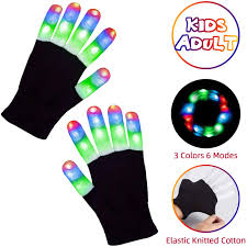 Light Up Gloves Amazon Aubllo Led Gloves Light Up Rave Glow Gloves 3 Colors 6 Modes Flashing Halloween Costume Birthday Edm Party Christ Mas Light Up Toys For Kids Size 7