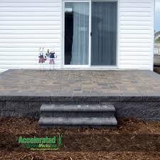 attractive raised paver patio backyard remodel photos picture 6202783 orig picture crafts room paradoxosco