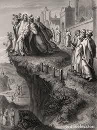 grabado al acero de 1857, jesús expulsado de la - Comprar Grabados Modernos  siglo XIX en todocoleccion - 105383915