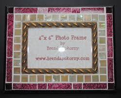 antique look venetian glass mosaic photo frame