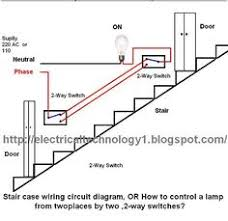 two way light switch diagram staircase wiring diagram electric staircase wiring circuit diagram or how to control a lamp from two different places by two 2 way switches below is the staircase wiring circuit diagram