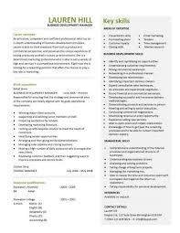 Business Development Manager CV Template Managers Resume Marketing Magnificent Business Manager Resume