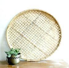 decorative wall baskets wicker wall basket wicker rattan wall art woven bowl round metal round wood decorative wall baskets