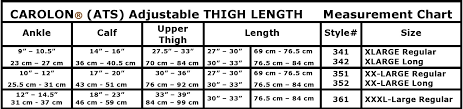 Carolon Ats Anti Embolism Adjustable Medical Thigh High Big Size