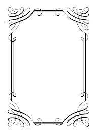Calligraphy border clipart