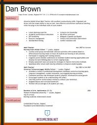 Resume Example 2016 Teacher Resume examples 24 for Elementary School examples of 1