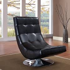 armless leather chairs. ARMEN LIVING Mario Black Bonded Leather Armless Swivel Club Chair Chairs )