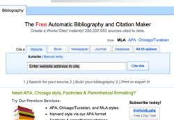 bibliography generator mla apa chicago citation  offers over 55 different citation options the full list is accessible on the final tab
