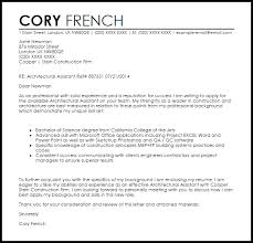 Gallery Of Architectural Assistant Cover Letter Sample Livecareer