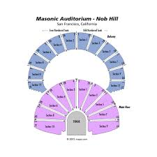 Masonic Seating Chart Masonic Auditorium San Francisco Event Venue Information
