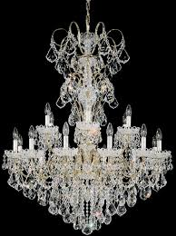 schonbek 3660 48h new orleans 18 light crystal chandelier in antique silver with heritage crystal