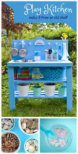 Play Kitchen From Old Furniture Diy Play Kitchen From Old Nightstand I Turned An Old Dresser Into