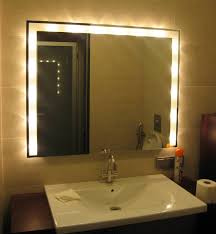 mirrored lighting. Appealing Led Vanity Light Bar Fixtures Mirror With Lamps Around White Sink And Faucet Mirrored Lighting