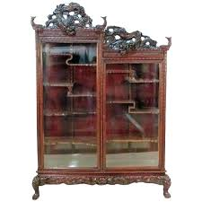 antique oak curved glass china curio cabinet antique curio cabinet antique carved curio cabinet 1 antique