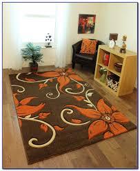 burnt orange and blue area rug