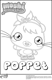Poppet Moshi Monster Coloring Pages Team Colors