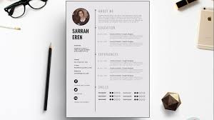 Clean Cv Template Design Photoshop Tutorial Youtube