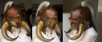 leather viking helm by thedoc30427 deviantart com on deviantart