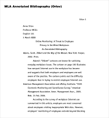 Annotated Bibliography Mla Format Center The Title           png