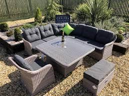 premium large rattan corner sofa set