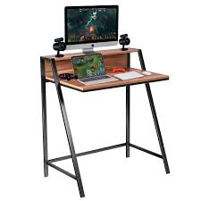 Computer Desk Simple Design Tangkula Small Gaming Desk 2 Tier Computer Desk Home Office Wood Sturdy Frame Compact Writing Table For Small Place Apartment Dom Office Furniture