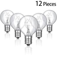 Scentsy 20 Watt Replacement Light Bulbs 12 Pieces 20 Watt Bulbs Wax Warmer Bulbs Incandescent Clear Light Bulbs G30 Globe With E12 Candelabra Base For Middle Size Scentsy Warmers